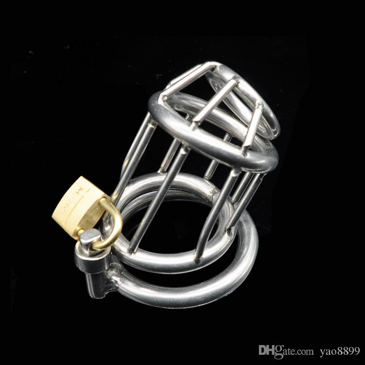 Male chastity stainless steel ball stretcher sex ring for men male chastity device chastity cage