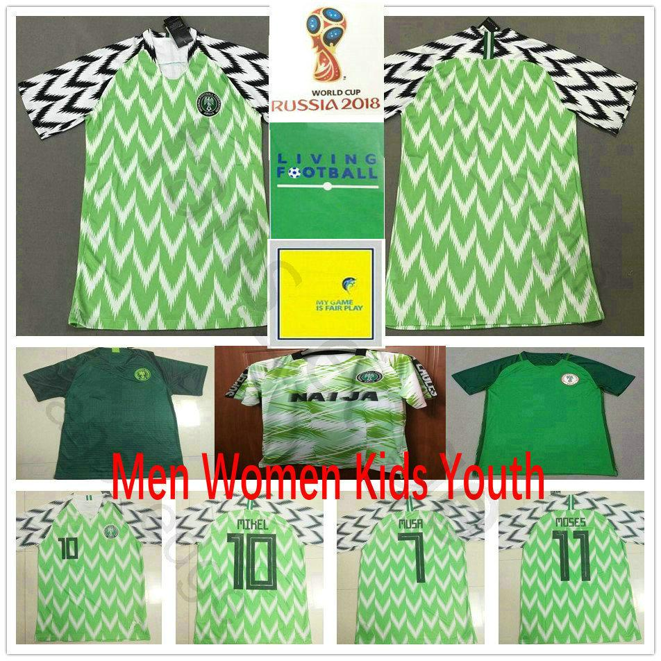 2019 2018 World Cup Soccer Jersey 18 IWOBI 12 SHEHU 9 STARBOY 10 MIKEL 14  IHEANACHO MUSA NDIDI Custom Home Away Green Football Shirt From Fans edge 6d9153b6d