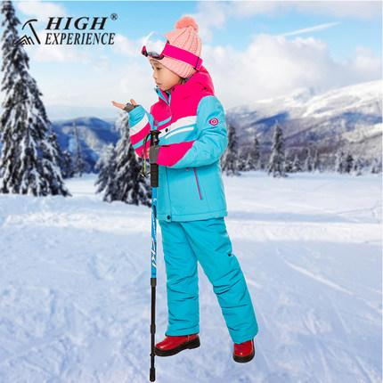 60693efbe7c2 2019 HIGH EXPERIENCE 2018 New Kids Children Ski Suit Boys Girls Ski ...