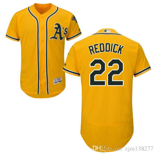 meet 903f8 773da 2018 Men's Oakland Athletics #22 Josh Reddick Jersey