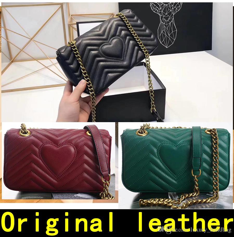 d3a5ed7cd260 Designer Handbags High Quality Luxury Handbags Famous Brands Handbag Women  Bags Real Original Cowhide Genuine Leather Chain Shoulder Bags Designer  Handbags ...