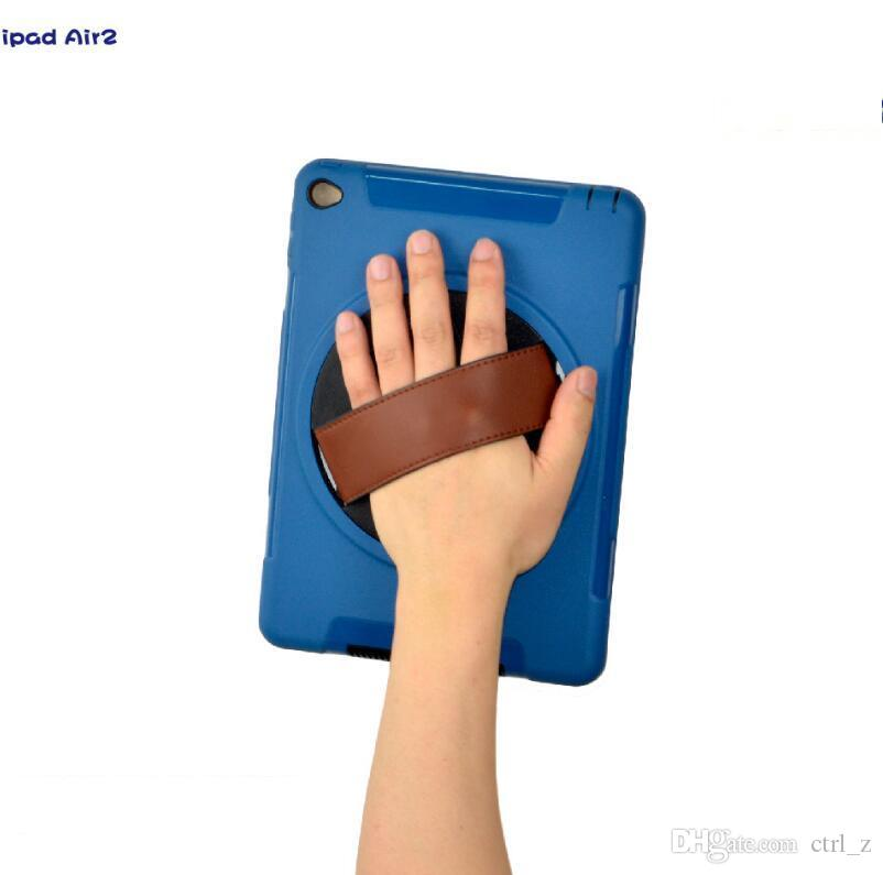 für 2017 neue iPad pro 10,5 9,7 ipad Luft 2 mini 4 Hinterbauständer 360 Grad drehbare Tote Handschlaufe Stoß- Fall