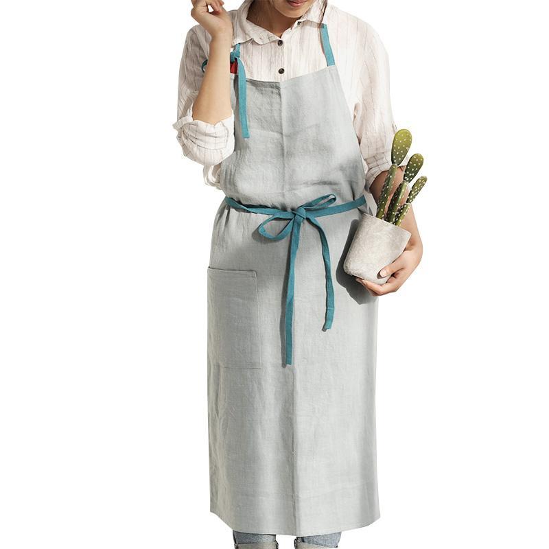 Satın Al Japon Pamuk Keten Moda Ev Mutfak önlükleri Boyama Restoran