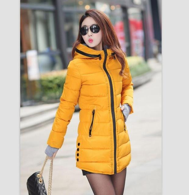 AYUNSUE Wadded Abbigliamento Donna 2017 Nuove donne Giacca invernale Giacca in cotone Slim Parka Cappotti donna XS-XXL YG126