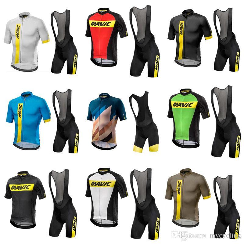2018 Mavic Cycling Jerseys Set Summer Pro Team Short Sleeves Racing Bike  Clothes Ropa Ciclismo Quick Dry Cycling Clothing Sportswear C3001 Long  Sleeve ... efa9839ef