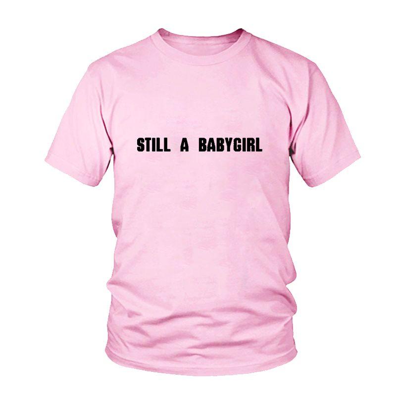 Cartas Imprimir Camiseta De Still Babygirl A Compre Mujer Y0PS0n