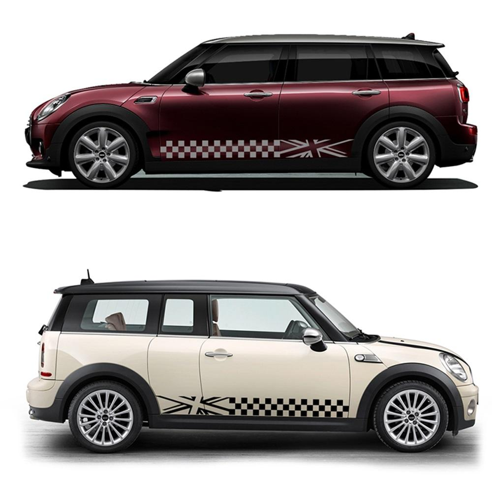 2019 both door side waist line decal car body sticker styling for mini cooper s jcw one f54 f55 f56 f60 r55 r56 r60 r61 accessories from seven7dh