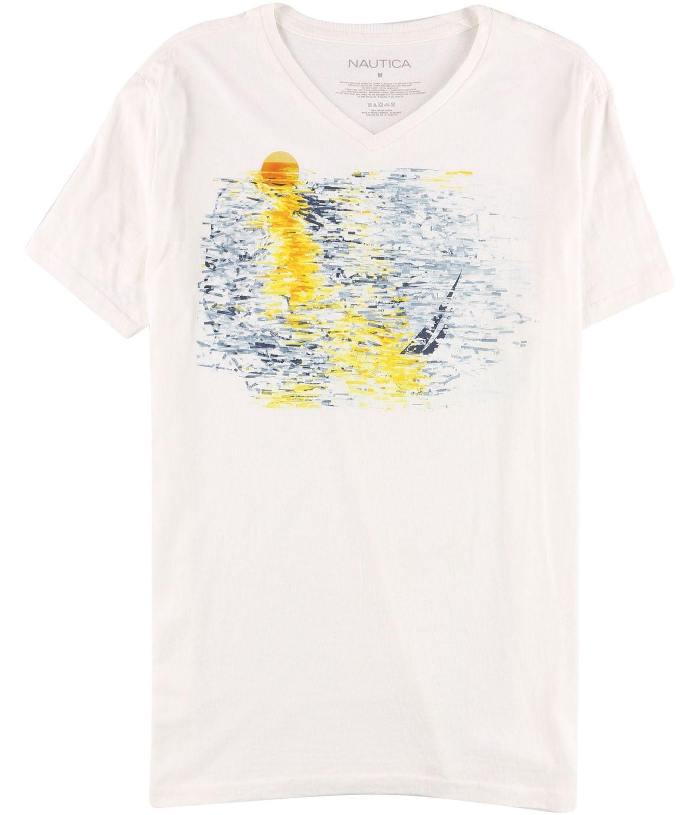 Nautica Mens Sea Graphic T Shirt White M 2018 New Pure Cotton Short