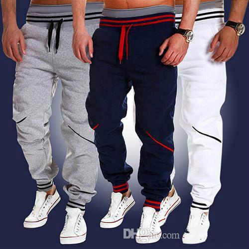 Compre Nuevos Hombres De Moda Jogger Dance Sportswear Baggy Harem Pants  Pantalones Pantalones De Chándal Negro Blanco Talla M 2XL A  23.37 Del  Chunfen ... a03736be5ca