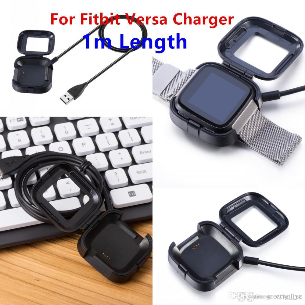 USB Power Charger Cable Battery Charging Dock For Fitbit Versa Smart