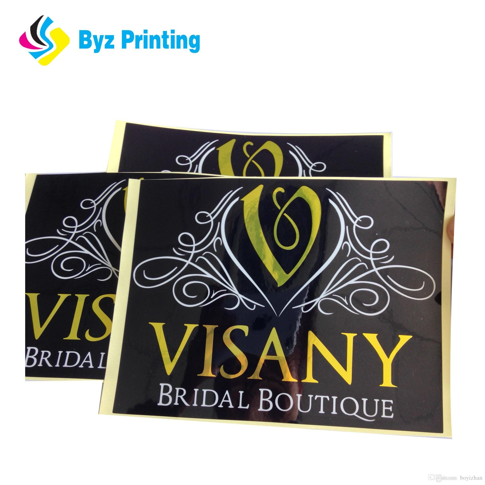 2019 custom die cut design logo printing sticker paper self adhesive vinyl stickers label from boyizhan 0 04 dhgate com