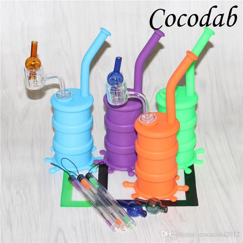 Nouveaux tuyaux en silicone Pour les tuyaux à fumer avec clous à quartz thermiques, capsules à billes 120mm dab tool 14 * 11.5cm tapis en cire de silicone
