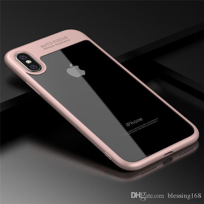 2018 Newest Full Protective Case TPU & PC Hard Clear Slim Back Cover Case for iPhone X iPhone 8 8plus