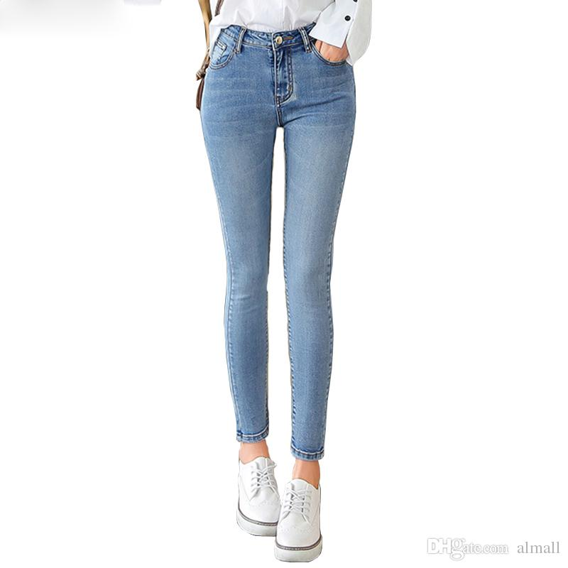 e514587f15e 2019 Mom Jeans Women With High Waist Women S Pants Winter Stretch Skinny Jeans  Woman Plus Size Denim Pencil Pants Femme Cotton From Almall