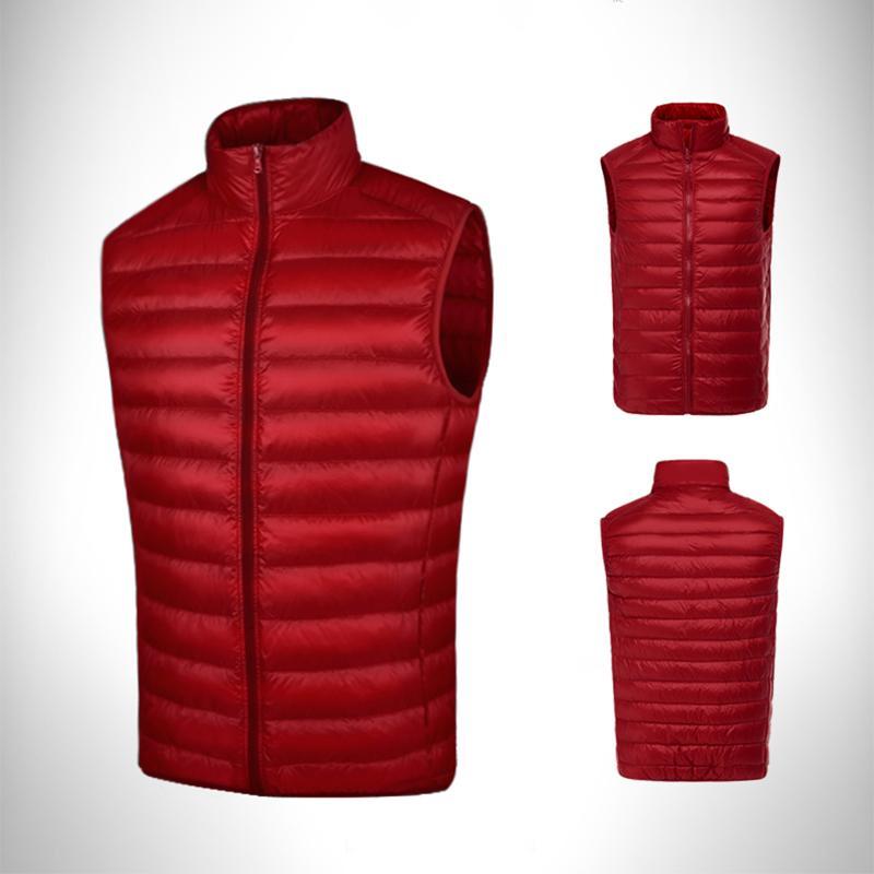 detailed look 244f1 6fc7c Pgm golf abbigliamento uomo piumino cappotto doppio piumino maschio senza  maniche golf caldo antivento gilet autunno inverno abbigliamento d0512