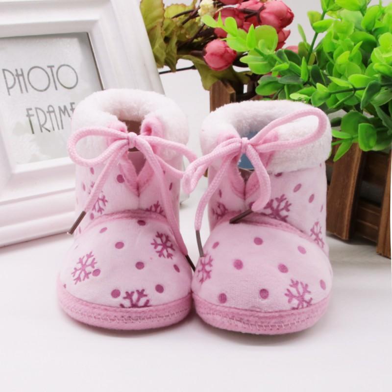 b5e8e8244 Compre Sapatos De Bebê Meninos Meninas Sapatos De Inverno Botas Quentes  Para Recém Nascidos Infantil Prewalker Criança Do Bebê Primeiros  Caminhantes De ...