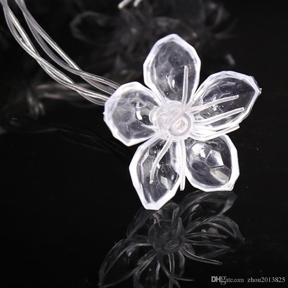 Battery Powered Jasmine Flower Shape String Light For Outdoor Indoor