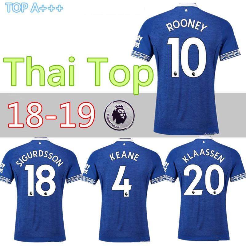 d6527ca25 2019 Thai Quality 2018 2019 Walcott Everton Soccer Jerseys ROONEY 18 19  Everton Home SIGURDSSON CENK TOSUN FUNES MORI Football Uniforms Shirts From  Cst726