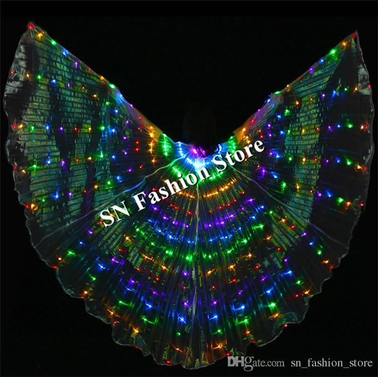 BCful led light costumes party luminous glowing led cloak belly dance led dress stage wears cloth performance catwalk show dj show