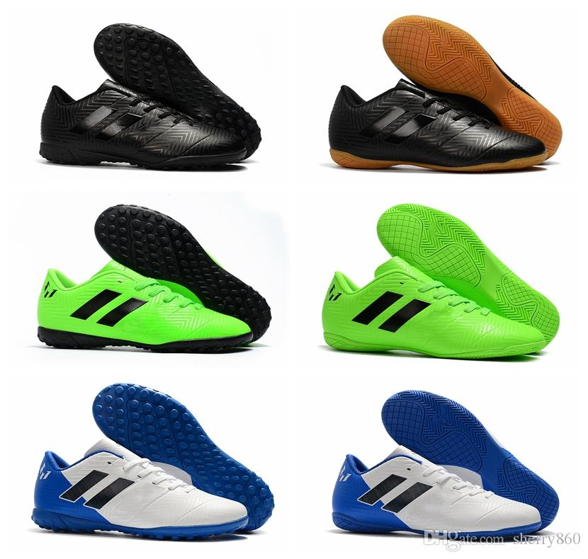 eb87da96a8d 2018 Mens Soccer Cleats Indoor Soccer Shoes Turf Nemeziz Messi Tango ...