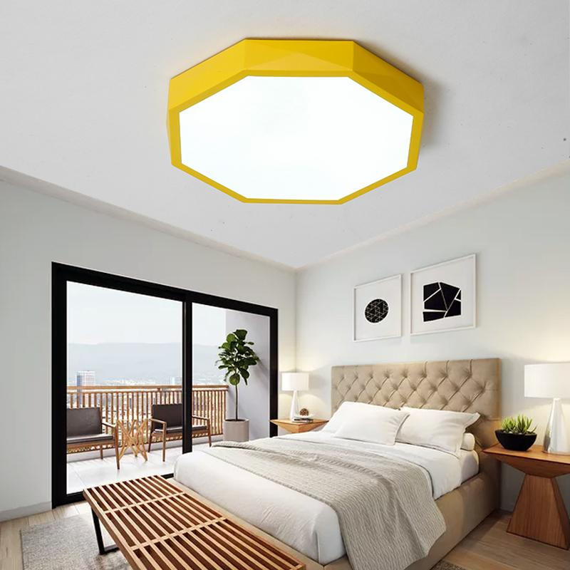 Round LED Dimmable Kids room Ceiling Lamp for Bedroom Living Room Kitchen  Lighting Flush Mount Ceiling Light with Remote Control