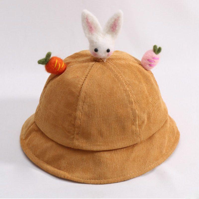 MAERSHEI Children s Fisherman Hat Boys Girs Bucket Hat Baby Cartoon Rabbit  Corduroy Basin Caps Casual Bonnet Autumn Winter Model D18110601 Online with  ... 7408263f2195