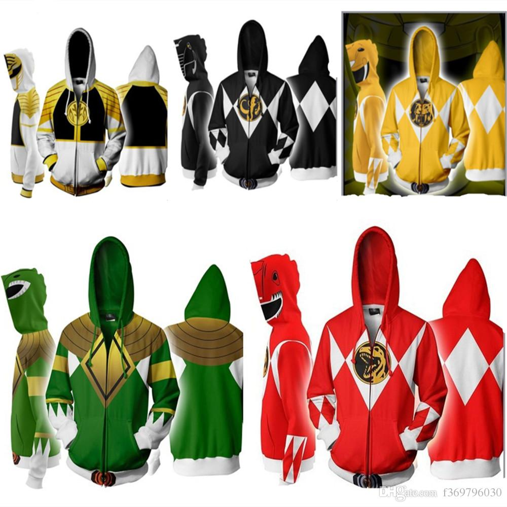 Movie Power Rangers Costume Power Rangers Sweatshirts Cosplay