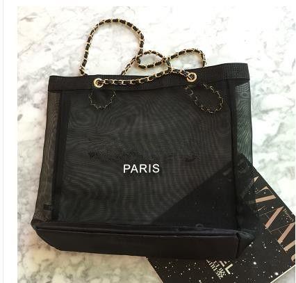 Sacs à bandoulière en maille transparente pour femmes en chaîne à la mode Sacs à main Designer Shopping Shopping Bags