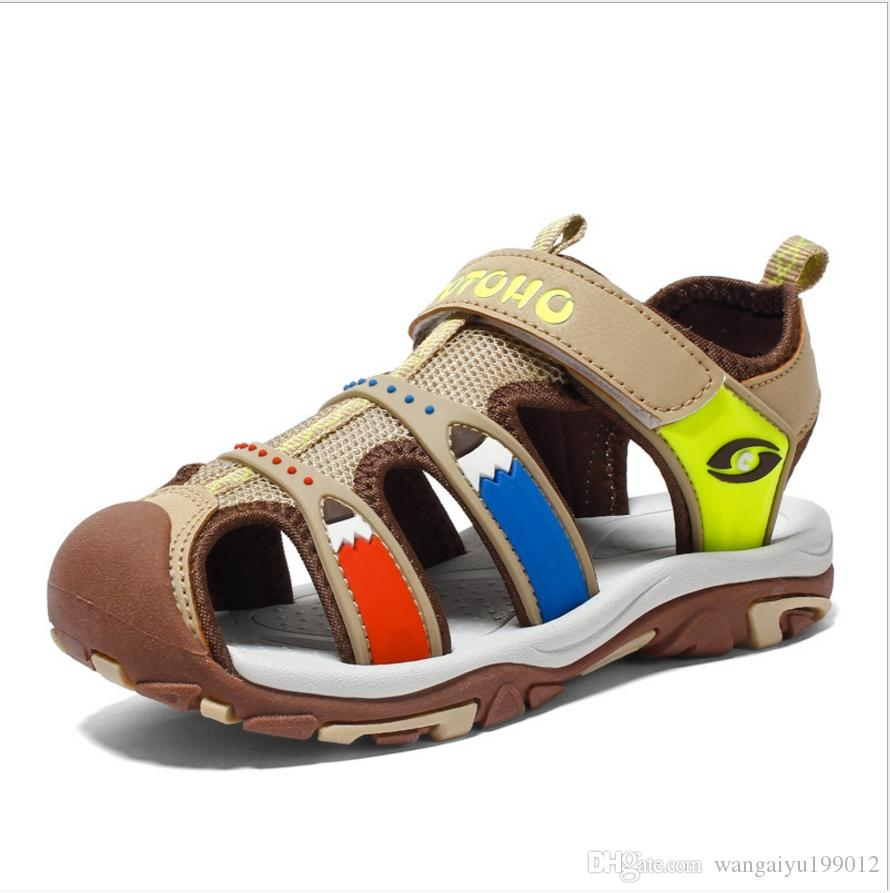 Boys sandals children 2018 new summer big children Korean version of the child boy Baotou boy baby children shoes