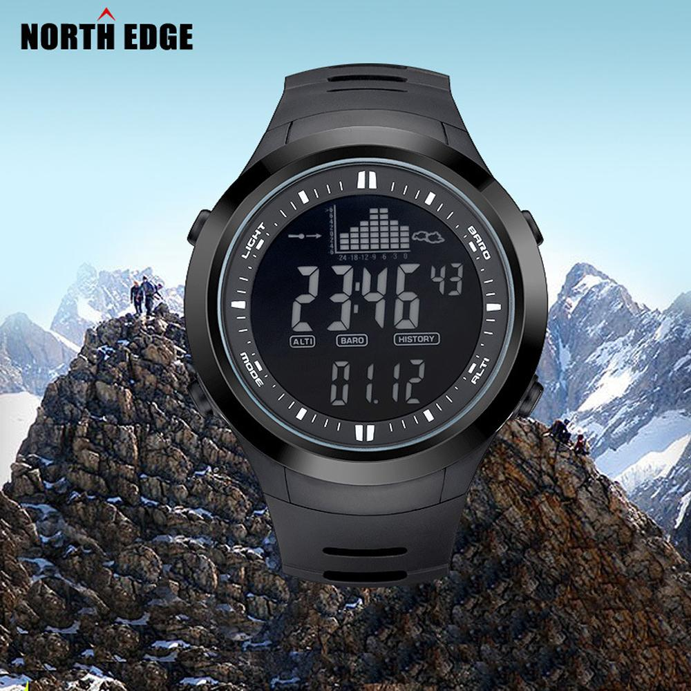 fishing men clock watches index edge digital watch north outdoor