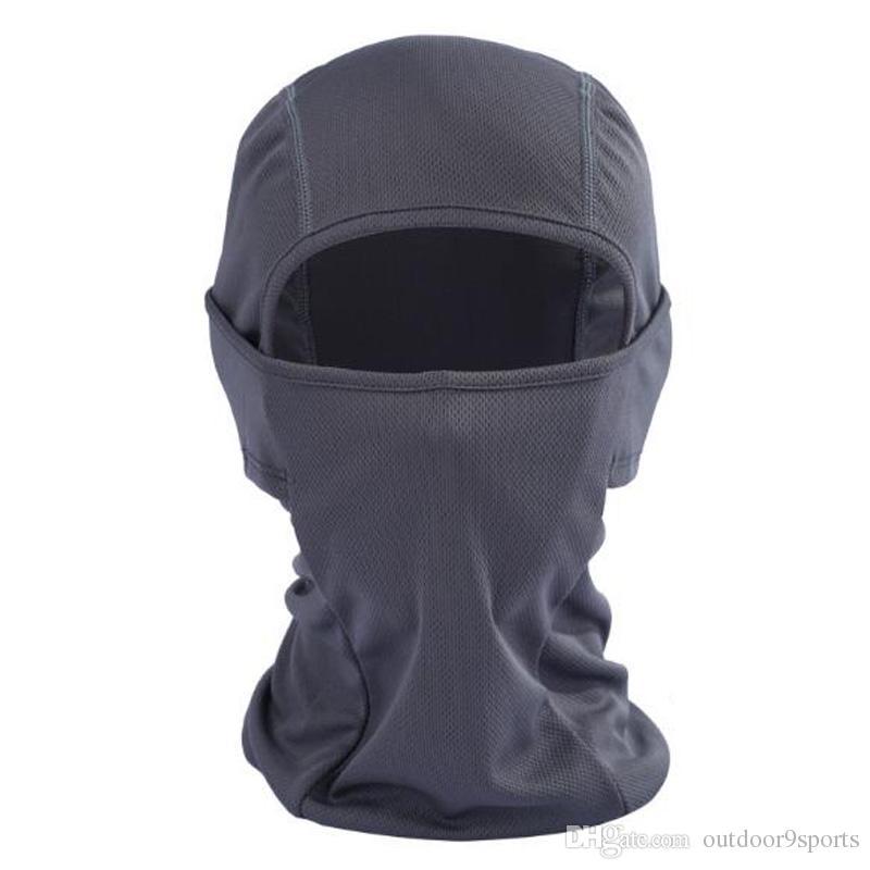 Summer Breathable CS Full Face Mask Motorcycle Helmet Mouth Cover Outdoor Biking Ski Eye Open Protective Headgear Sun-protection Masks