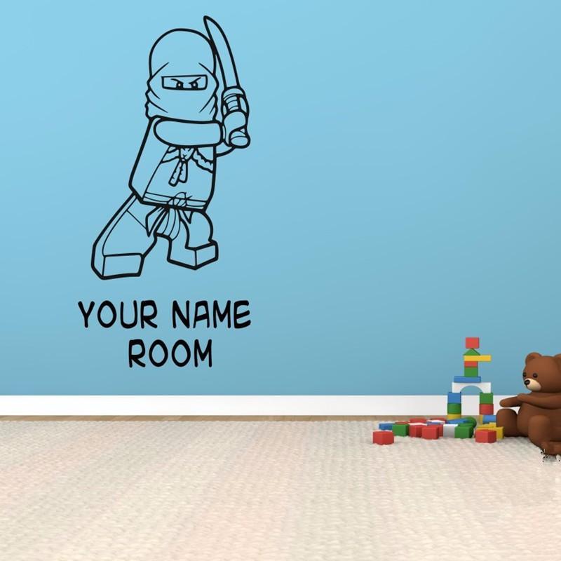 Enjoyable Creative Wall Stickers Room Decor Art Decals Removable Vinyl Wallpaper Name Customized Lego Superhero Ninjago Download Free Architecture Designs Scobabritishbridgeorg