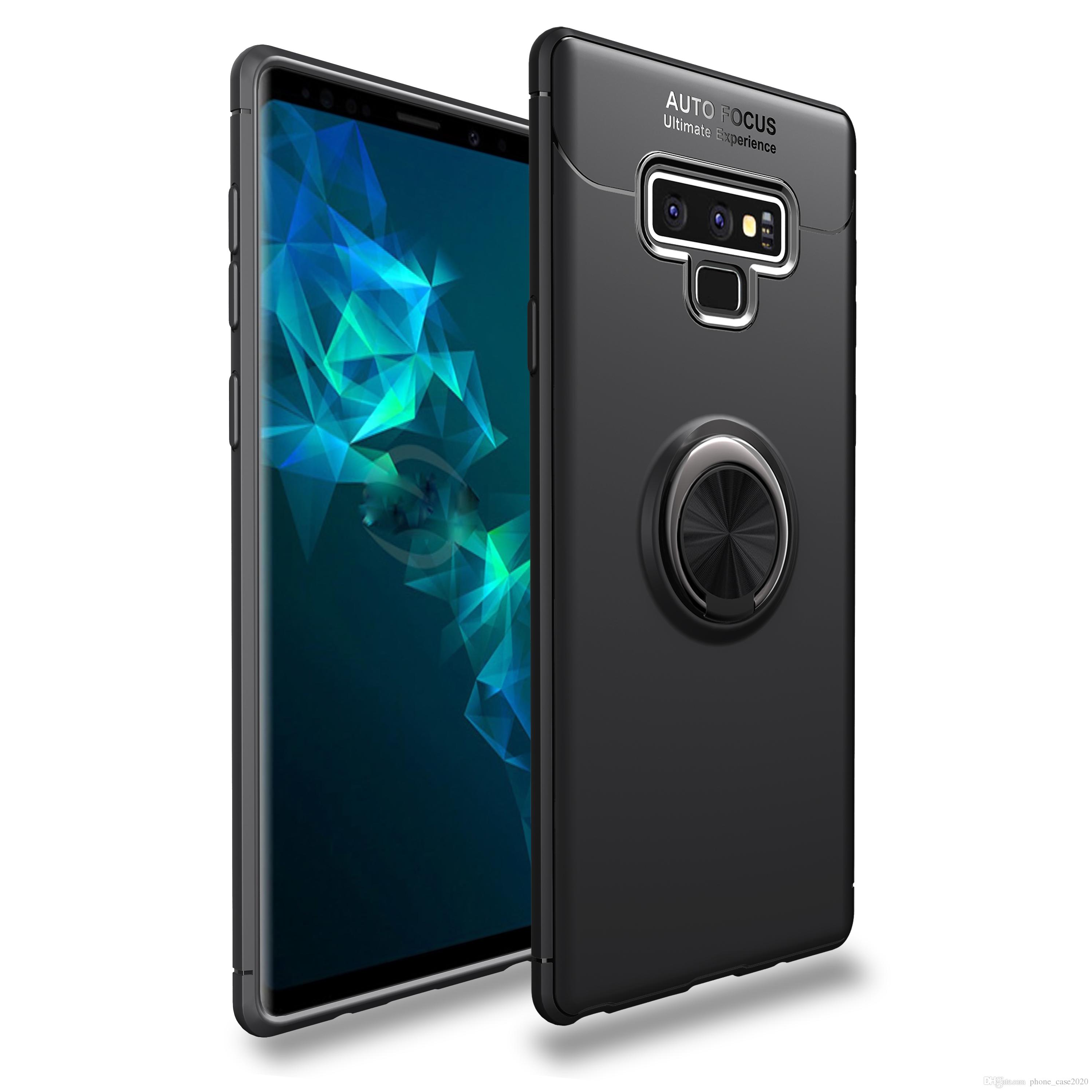 Huawei Handy Hüllen Ultra Dünner Dünner Finger Ring Ständer Weicher Kasten Für Samsung Galaxie Anmerkung 9 S9 S9 A6 A6 J8 J6 J4 S8 S8 Note8 Outdoor
