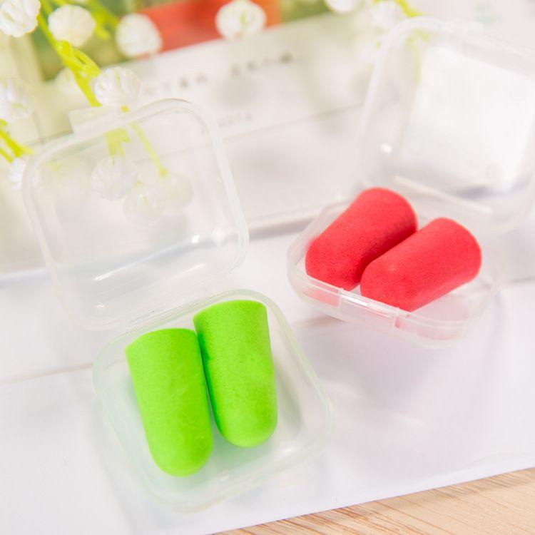 Bag pack Soft Orange Foam Ear Plugs Tapered Travel Sleep Noise Prevention Earplugs Noise Reduction For Travel Sleeping
