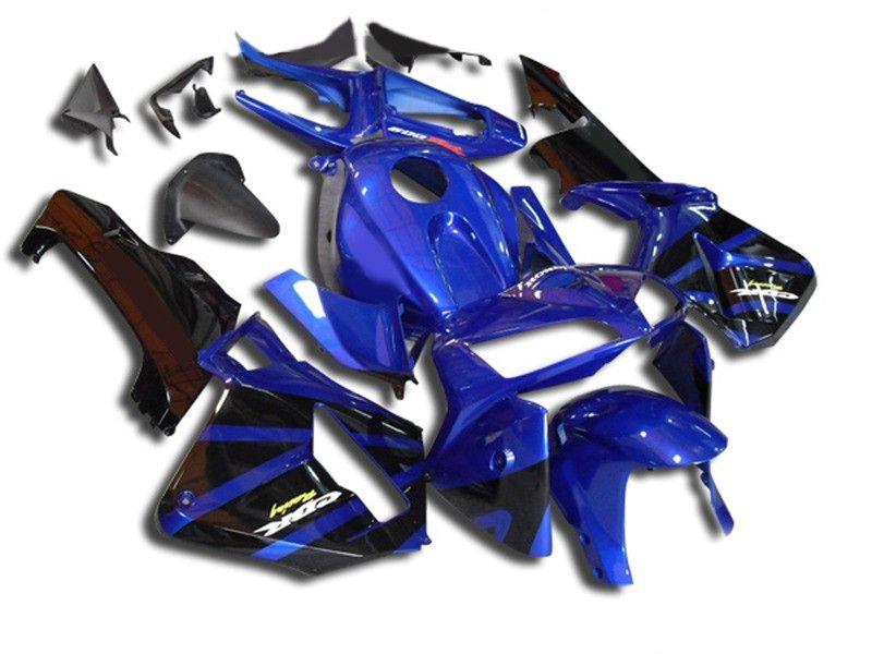Motorcycle Fairing Kit For Honda Cbr600rr F5 05 06 Cbr 600rr 2005 2006 Cbr600rr Abs Blue Black Fairings Set 7gifts Hj08