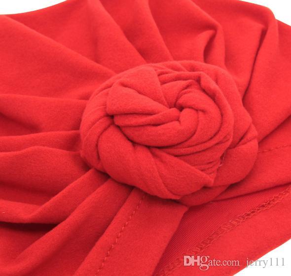 Bébé Top Knot Turban rose chapeau Tout-petit style vintage Turban doux rétro Accessoires de cheveux filles garçons Tête enveloppent LC697