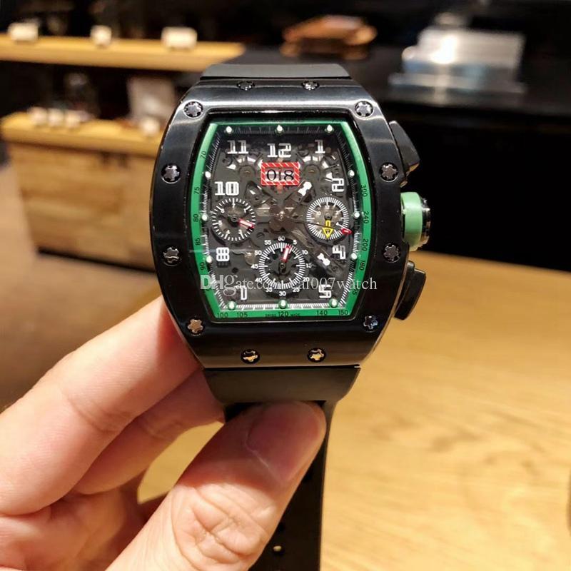 b6b1820de84 Compre Relógio Masculino De Personalidade Multifuncional. Disque Com  Calendário Grande. Com Movimento Mecânico Automático Multifuncional. Caixa  De Aço 904l.