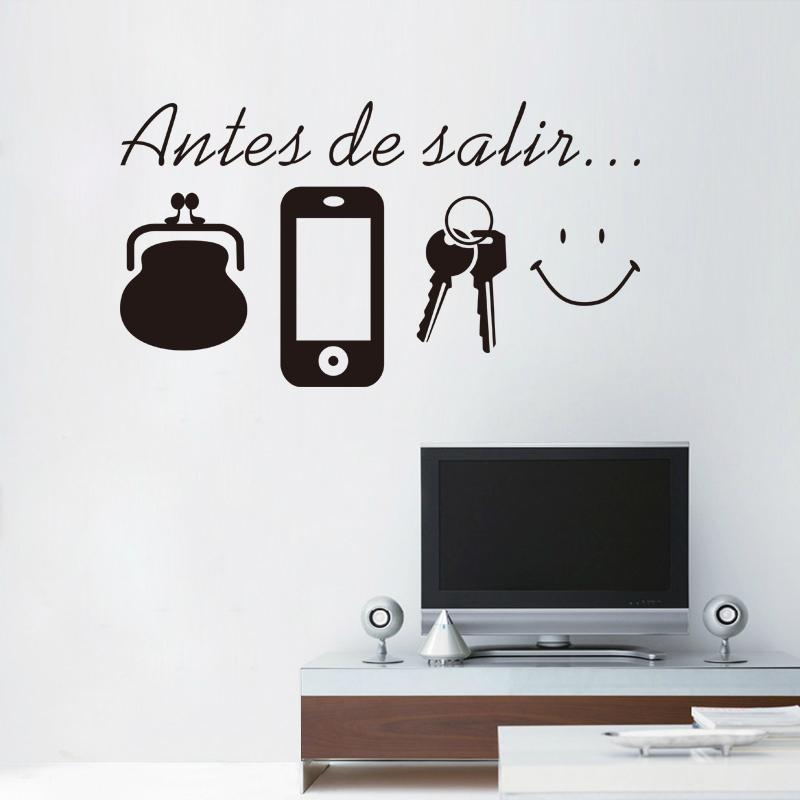 ome Decoration Stickers Posters Wall Stickers Spanish English Before  Leaving Reminder vinyl quotes don t forget door wall art sticker dec