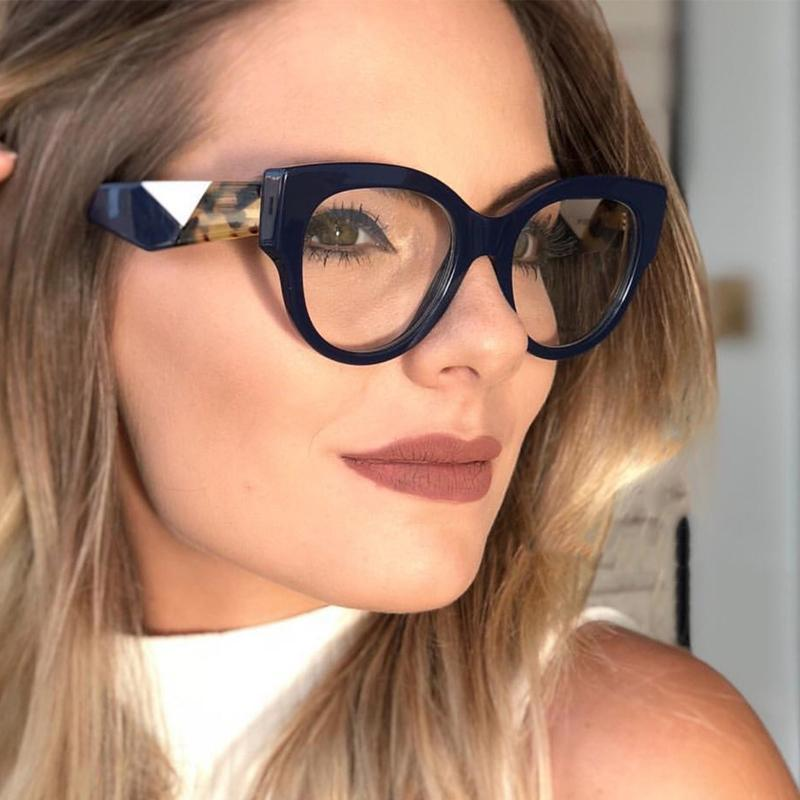 6c48636a03a 2019 QPeClou Sexy Cat Eye Glasses Frame Women Unique Glasses Legs Eyeglasses  Frame Female Decorative Clear Lens From Lovesongs