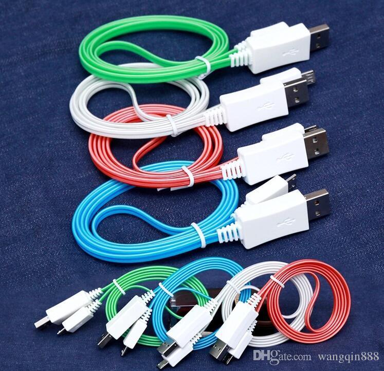 Видимый плавный светодиод 1M Загорается зарядный кабель типа C Зарядное устройство Micro USB Кабель синхронизации данных Для кабеля данных для смартфонов