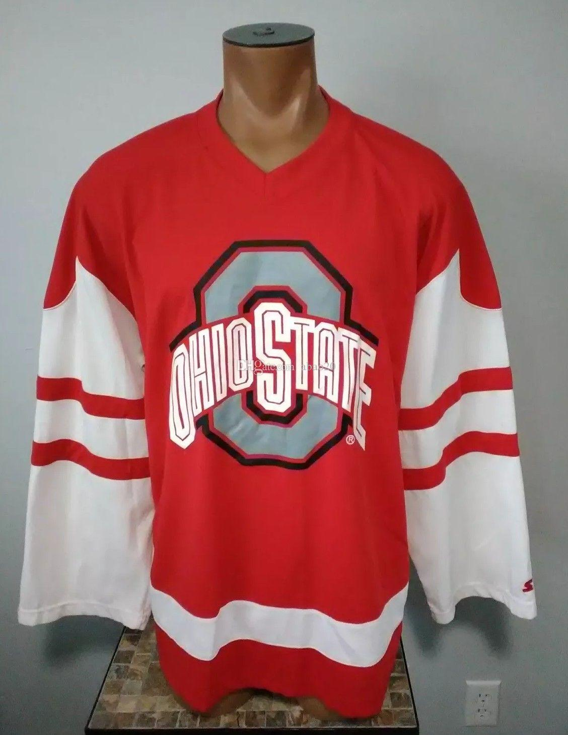 b71806e4641 2019 Ohio State Buckeyes Vintage Ice Hockey Jersey Mens Stitched Custom Any  Number And Name Jerseys From Abao20, $40.6 | DHgate.Com