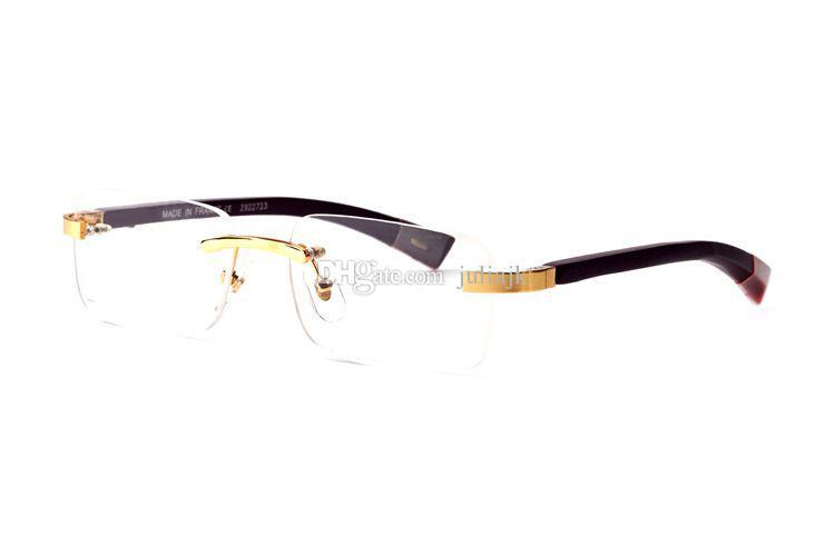 Fashion designer in legno occhiali da sole corno bufalo senza montatura lenti trasparenti lettura Anti Radiation montature da vista occhiali da vista da uomo