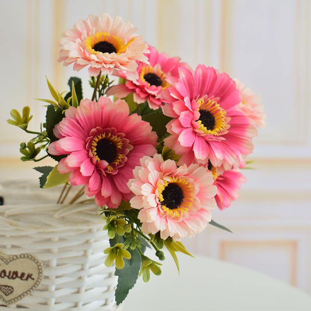 3pcs Artificial Flowers Silk Daisy Gerbera For Home Living Room