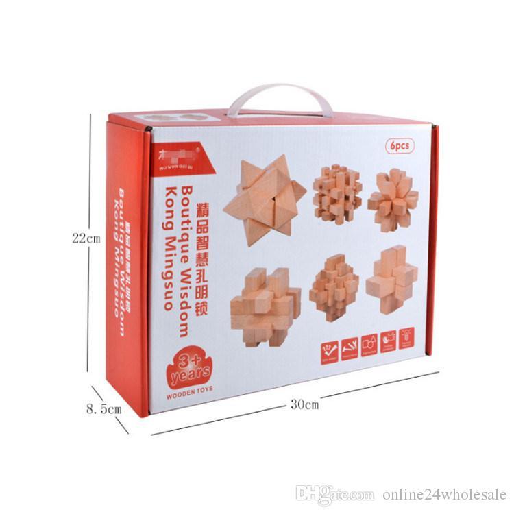 كتل الأطفال وبان قفل الحكمة الرائعة كونغ Mingsuo التقليدية لعبة مجموعة لعبة الدماغ 0-3 سنة بنات أولاد هدية عيد ميلاد