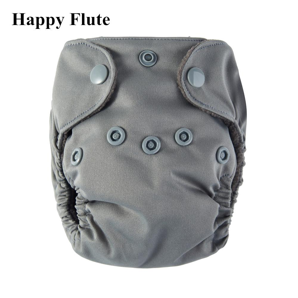 2019 Happy Flute Bamboo Charcoal Double Gussets Newborn Diapers Nb