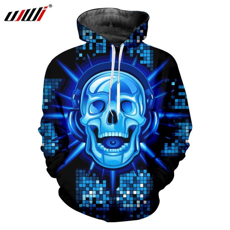 UJWI New Funny Blue Glitter Hoodies 3D Printed Man Hip Hop DJ Skulls Best  Selling Mens Pullover Wholesale Unisex Tracksuit UK 2019 From Dolylove ca231bfb34cc