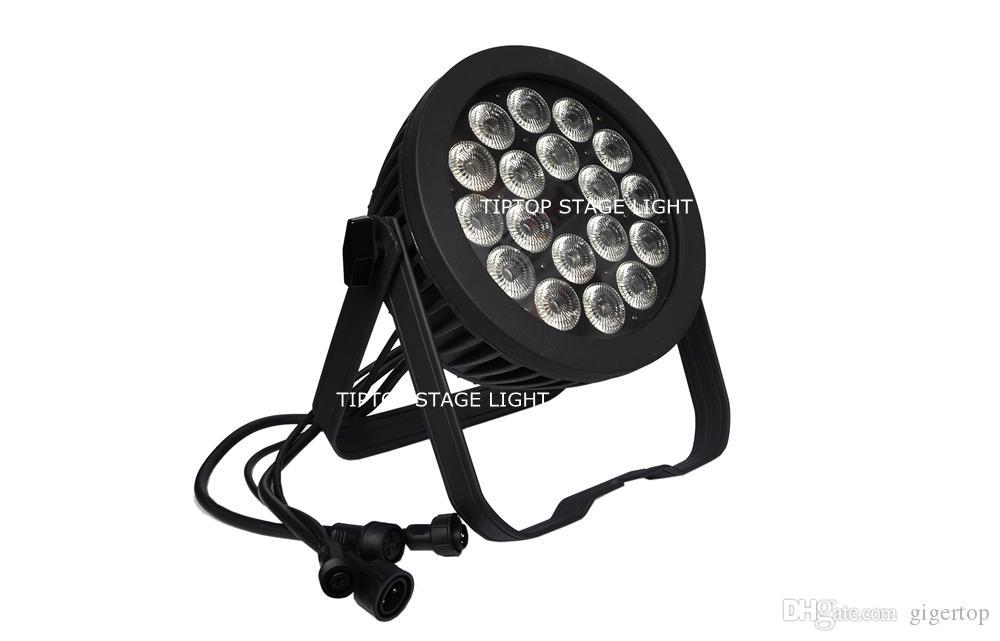 New Design LED 18x18W Waterproof Par Light Cree RGBWAP 6IN1 Leds Casting Aluminum Case No Noise IP65 Srage Light CE Certificate
