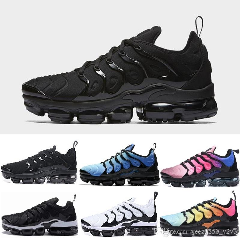 908465db836 2018 New Olive Mens Sneakers Plus Nylon Metallic White Silver Colorways  Pack TN Triple Black Sports Men Running Shoes US Sz7 11 Sports Shoes Online  Running ...