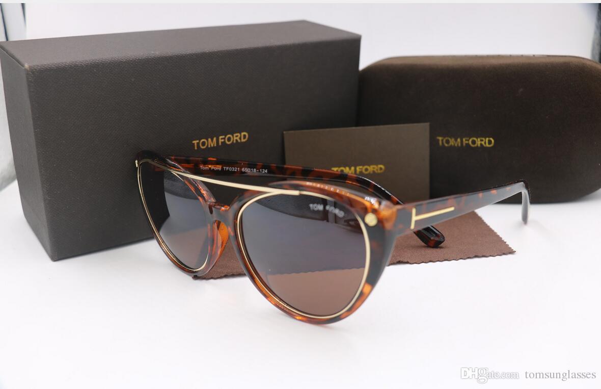 650c2854f9 Compre Gafas De Sol De Moda De Alta Calidad Nueva Moda 0321 Tom Para Hombre  Mujer Erika Gafas Ford Diseñador De La Marca Gafas De Sol Con Caja Original  A ...