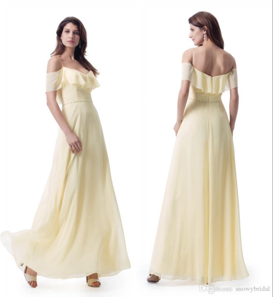 Atemberaubend Gelbe Und Weiße Kleider Brautjungfer Ideen ...
